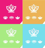 Lotus flower meditation logo icon Royalty Free Stock Photography