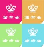 Lotus flower meditation logo icon Royalty Free Stock Photography