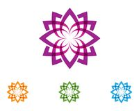 Lotus flower nature logo and symbol template Vector.  stock illustration