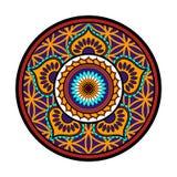 Lotus flower ornament. Vector lotus flower, circle ornament Royalty Free Stock Image