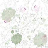 Lotus flower pattern Stock Images