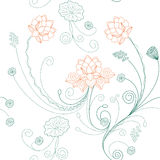 Lotus flower pattern Royalty Free Stock Images