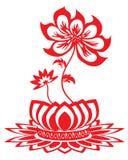 Lotus flower pattern vector illustration
