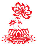 Lotus flower pattern Royalty Free Stock Photography
