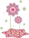Lotus flower pattern Royalty Free Stock Photo