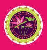 Lotus flower pattern Stock Image