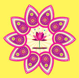 Lotus flower pattern set Royalty Free Stock Photography