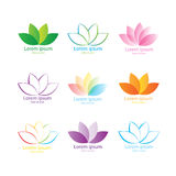 Lotus flower set Royalty Free Stock Images