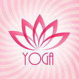 Lotus Flower Sign voor Wellness, Kuuroord en Yoga Stock Afbeelding
