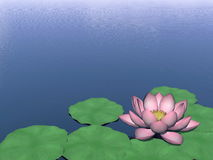Lotus flower - 3D render Stock Image