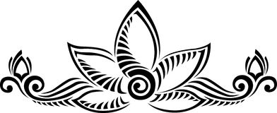 Lotus flower. Vector ornament against white Royalty Free Stock Images