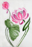 Lotus flower watercolor painting Royalty Free Stock Photography