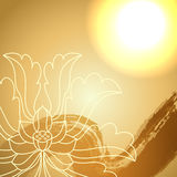 Lotus flowers background. Po-phase flowers background with space for text Stock Images