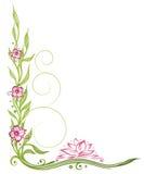 Lotus flowers, border Royalty Free Stock Photography