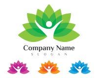 Lotus flowers design logo Stock Photo