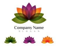 Lotus flowers design logo Stock Image