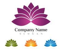 Lotus flowers design logo Royalty Free Stock Photo