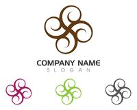 Lotus flowers design logo Stock Photography
