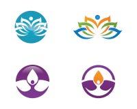 Lotus flowers design logo Stock Photos