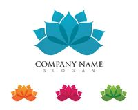 Lotus flowers design logo Template. Beauty Vector Lotus flowers design logo Template icon Royalty Free Stock Photography