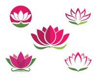 Lotus flowers design logo Template icon. Beauty Vector Lotus flowers design logo Template icon Stock Image