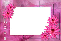 Lotus flowers frame Royalty Free Stock Photos