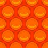 Lotus flowers geometric seamless pattern Stock Image