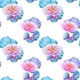 Lotus flowers pattern Stock Photo
