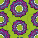 Lotus flowers seamless pattern Stock Photo