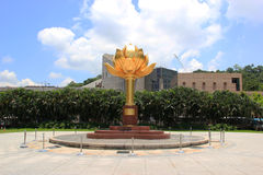 The Lotus FlowerStatue, featuring a lotus flower in full bloom a Royalty Free Stock Images