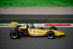 1971 Lotus 69 Formula 2. A Historic Formula 2 Championship event was hosted at Monza in occasion of the 2016 Intereuropean Cup Royalty Free Stock Photos