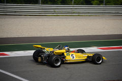 1971 Lotus 69 Formula 2. A Historic Formula 2 Championship event was hosted at Monza in occasion of the 2016 Intereuropean Cup Royalty Free Stock Photography