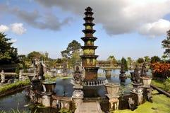 Lotus fountain. Symbol of Tirta Gangga - 11 tiered lotus fountain, Bali, Indonesia Stock Photography