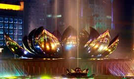 Lotus fountain Stock Photos