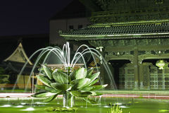 Lotus Fountain. Fountain in front of the Higashi-Honganji temple Royalty Free Stock Photos