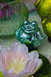 lotus and frog garden decoration royalty free stock photos