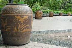 Lotus-gebakken installatie in oud Royalty-vrije Stock Foto