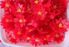Lotus Gevormde Kaarsen Royalty-vrije Stock Afbeeldingen