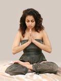 Lotus girl. Beautiful middle eastern teenage girl in yoga pose Stock Images