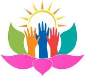 Lotus-handen royalty-vrije illustratie