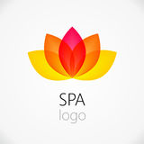 Lotus-het ontwerpmalplaatje van het bloem abstract embleem Royalty-vrije Stock Afbeelding