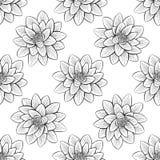 Lotus-het patroon van het leliewater vector illustratie