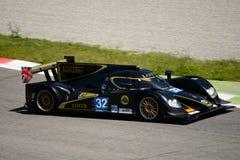 2012 Lotus/het Prototypetest van Lola LMP2 in Monza Stock Fotografie