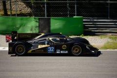 2012 Lotus/het Prototypetest van Lola LMP2 in Monza Stock Afbeelding