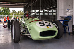 Lotus 18. Historic racing car photographed during Brno Grand Prix Revival event on 5 July 2014 in Automotodrom Brno, Czech Republic Royalty Free Stock Images