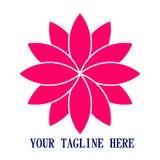 Lotus Icon logo 3d som desing Arkivbild