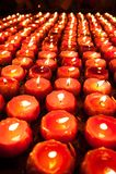 Lotus-Kerzen stockbilder