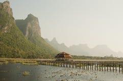 Lotus lake in Thailand Stock Image
