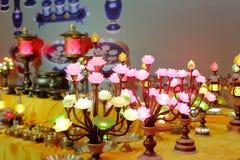 Lotus Lamp Fotos de archivo