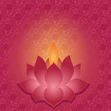 Lotus lamp background Stock Image